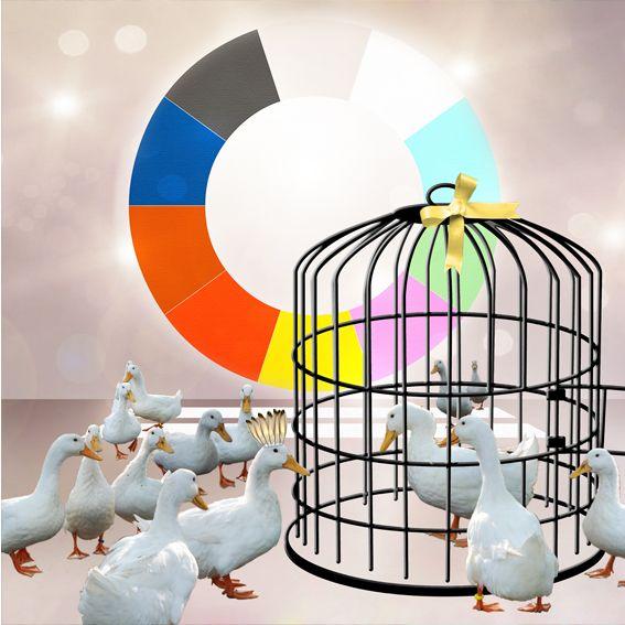#Birdcage #duck Digital art by Tine de Jong-Veenstra