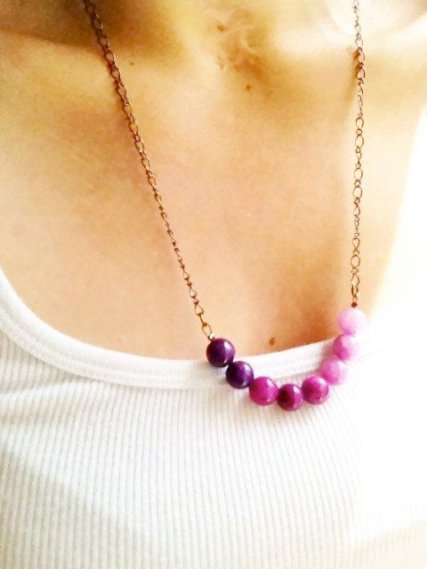 beaded ombre necklaces. $17.50, via Etsy. // love the purple one!