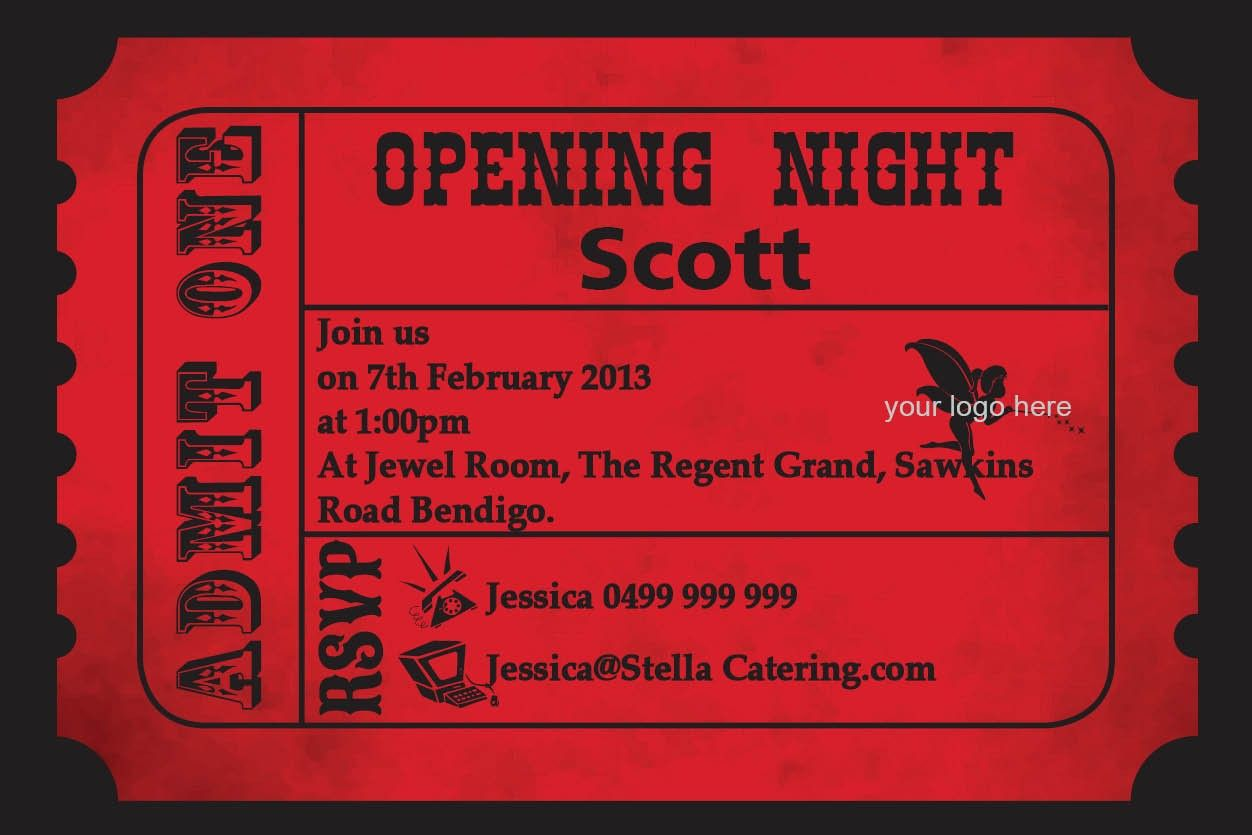 Colorful Admit One Party Invitations Image Collection - Resume Ideas ...