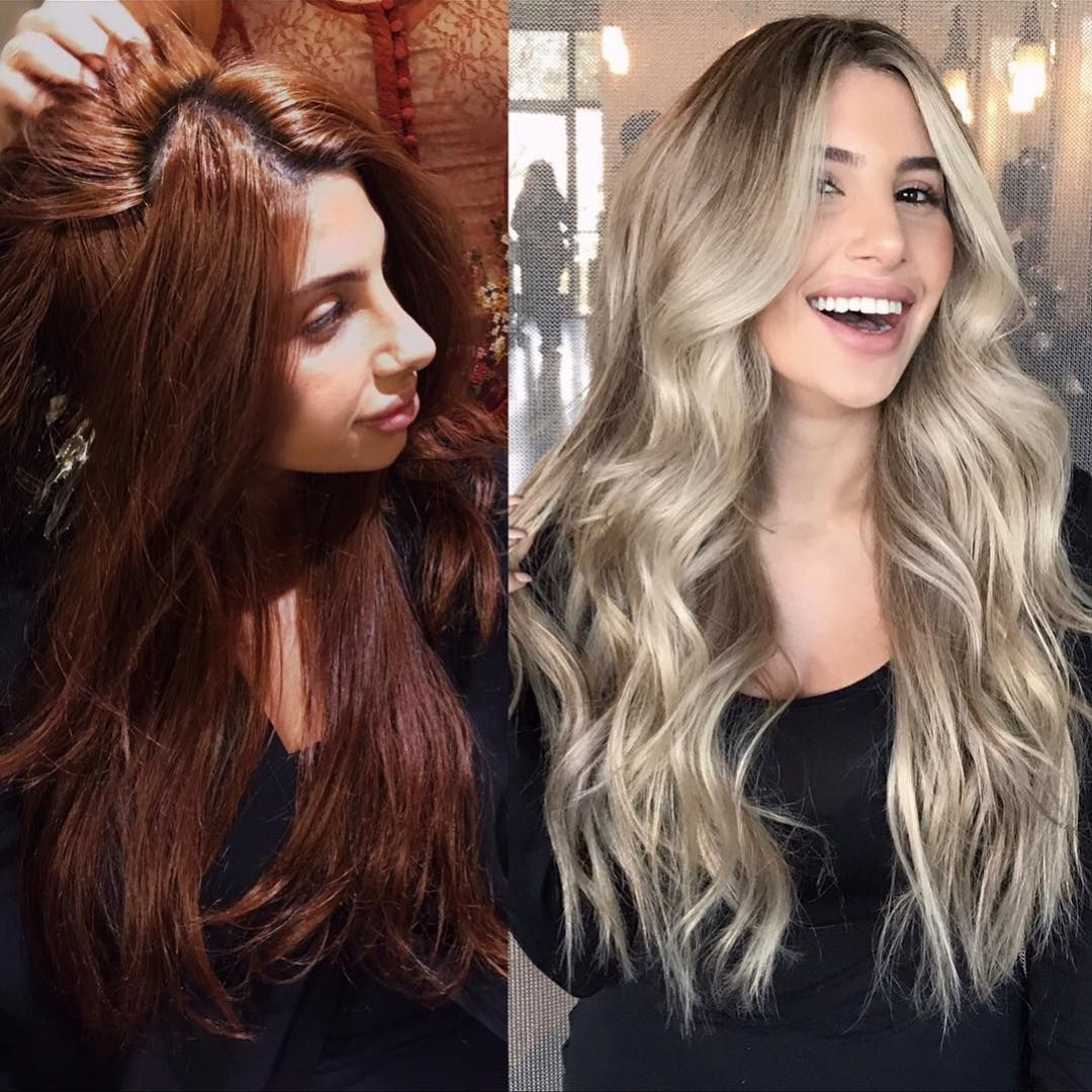 Box Dye At Home Hair To Blonde Before And After Of This Beauty