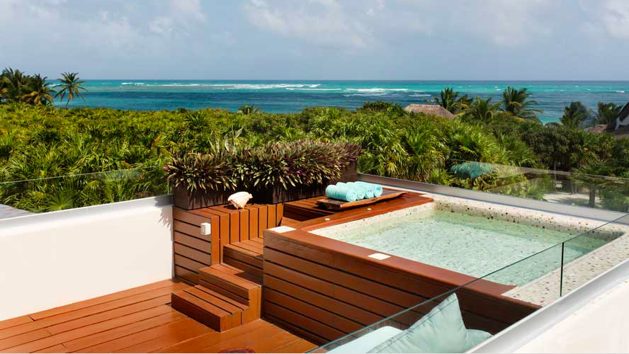 Oceanfront Private Rooftop With Pool At Mukan Resort Sian Kaan Mexico Ael Becker