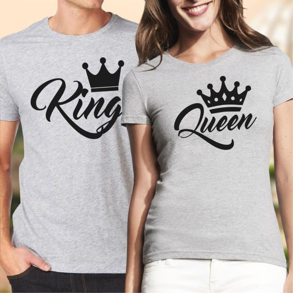 9aad2f2009 Pärchen t-shirts / couple shirts / his and hers shirts / king and ...
