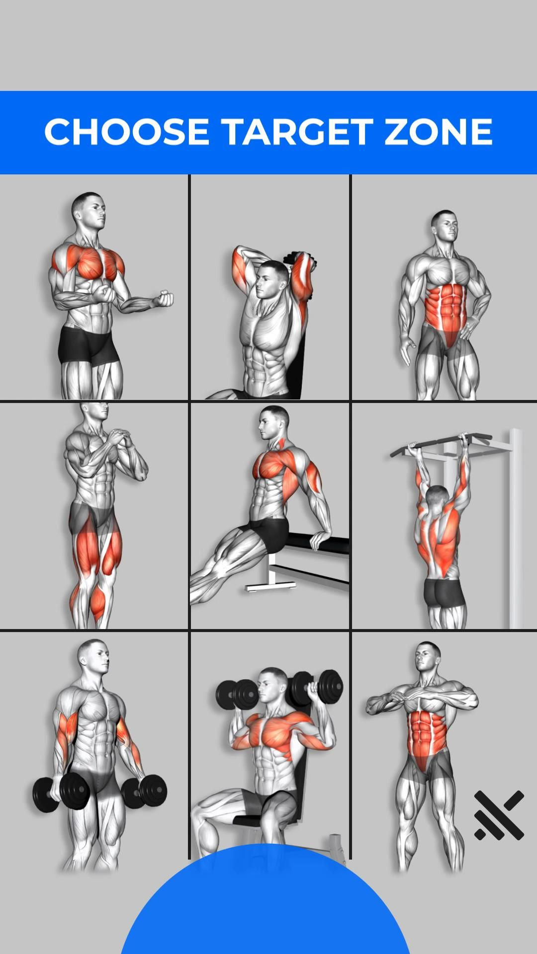At-home Workout Plan 💪 Install to get Muscle Booster app now!