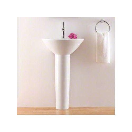 Parigi Ceramic 20 Pedestal Bathroom Sink Sink Kohler Bathroom