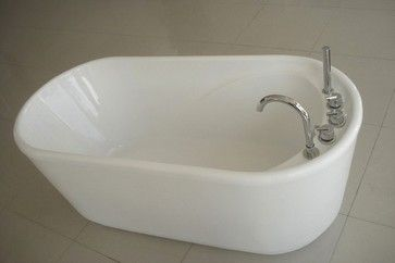 Greengoods bath factory 55 inch acrylic free standing for Best soaker tub for the money
