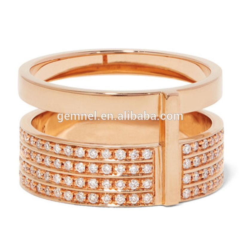 Gemnel 2017 newest 2 gram gold ring design for girls with cubic ...