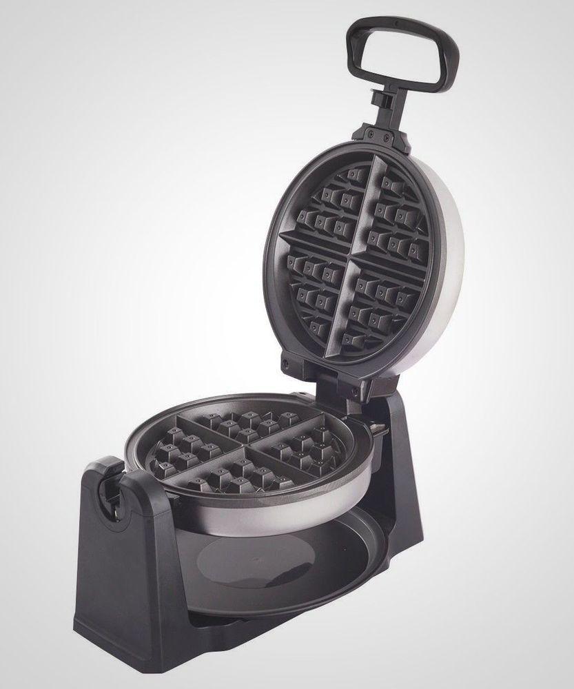Belgian waffle maker stainless steelblack breakfast iron