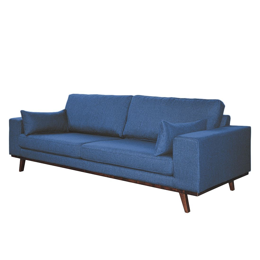 Sofa Billund (3-Sitzer) - Strukturstoff - Jeansblau, Morteens Jetzt ...
