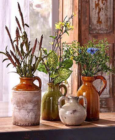 Rustic Ceramic Pottery Vases