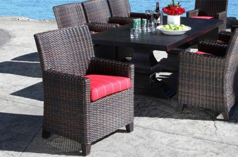 Outdoor Wicker Patio Furniture Columbia Dining Set Cabana Coast