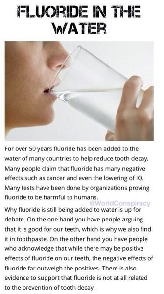 Nobody complains about it… Because they are under fluoride effects!