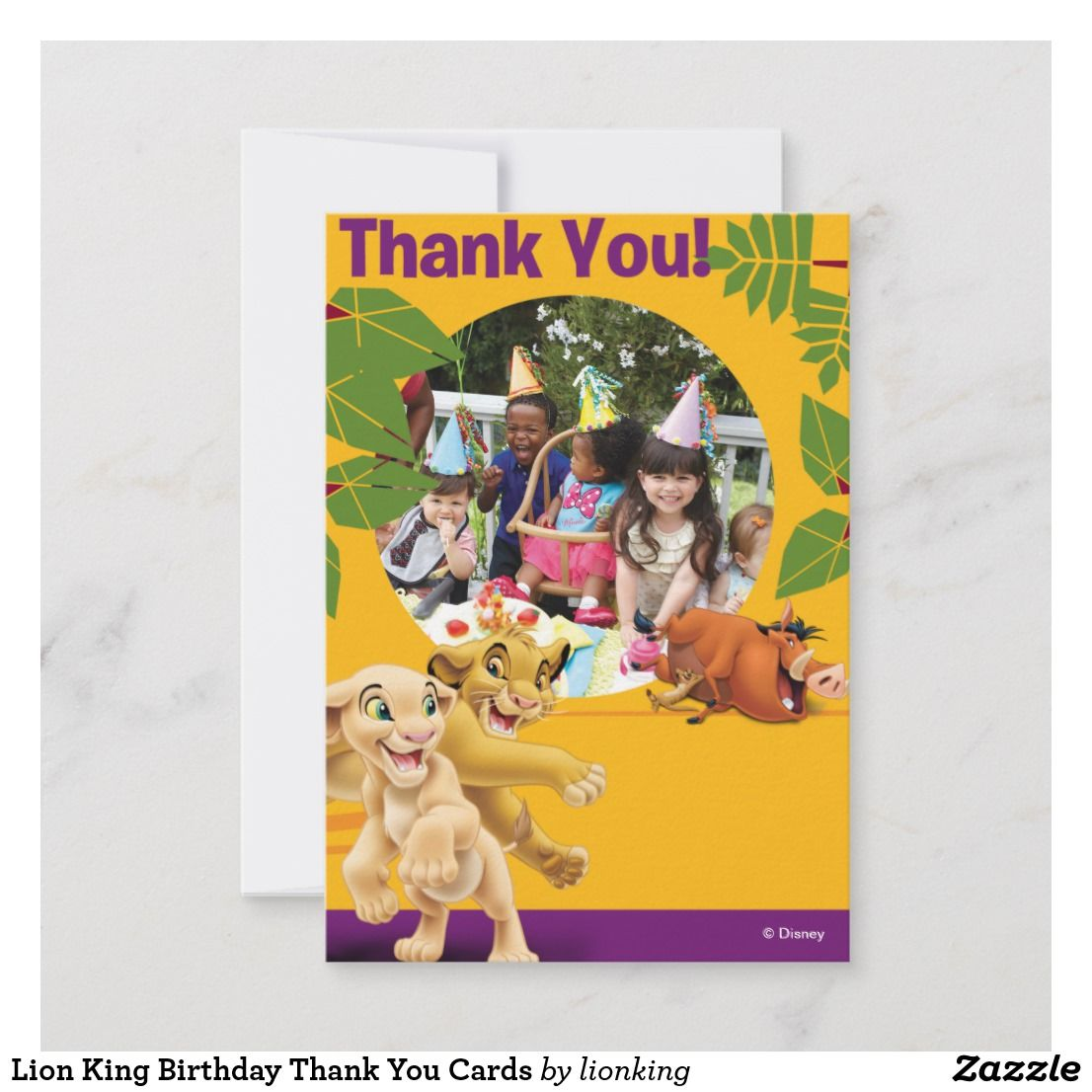 Lion King Birthday Thank You Cards Zazzle Com Birthday Thank You Cards Lion King Birthday King Birthday