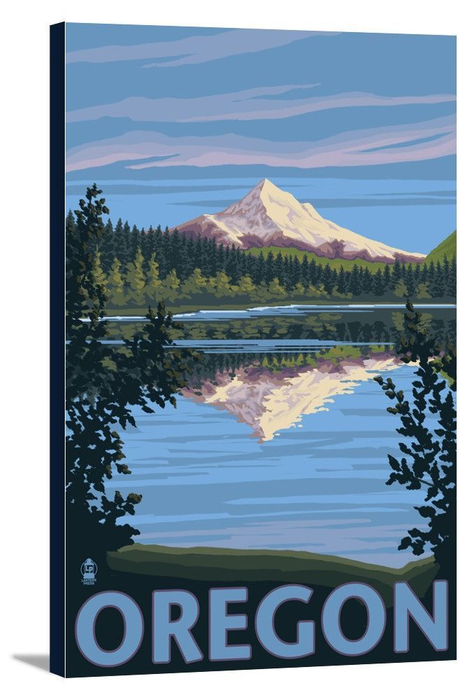 Mount Hood from Lost Lake, Oregon - Lantern Press Artwork