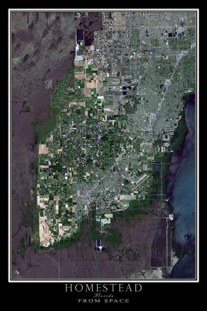 Map Of Homestead Florida.Homestead Florida Satellite Poster Map Photography S Precious