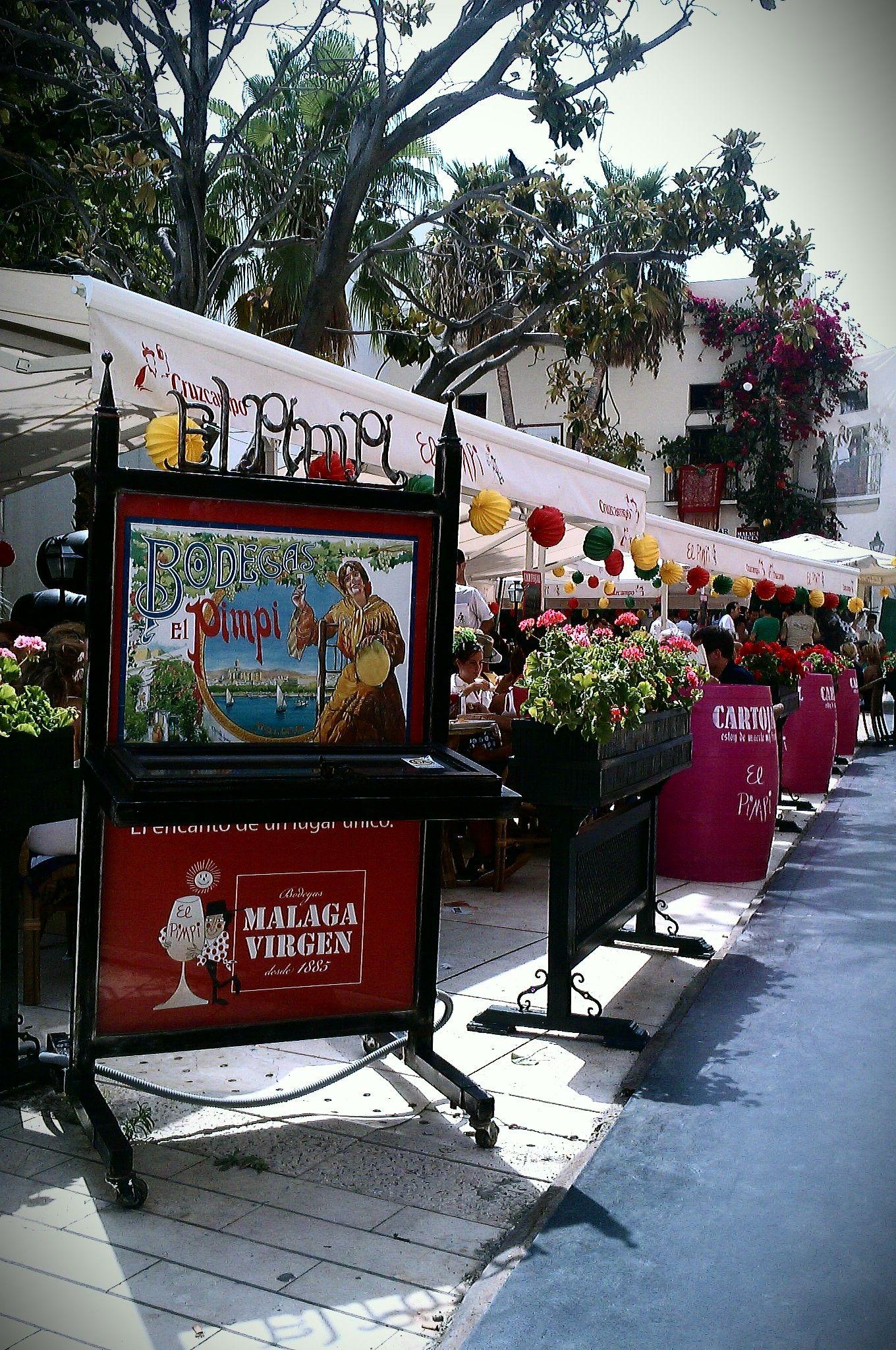 Bodega Bar El Pimpi Alcazabilla Street At Malaga S August Fair