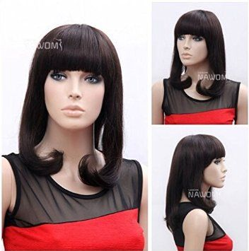 brown wigs with bangs synthtic wigs for women wigs for sale cheapest wig shops pro wigs onlineTB1502-2-33