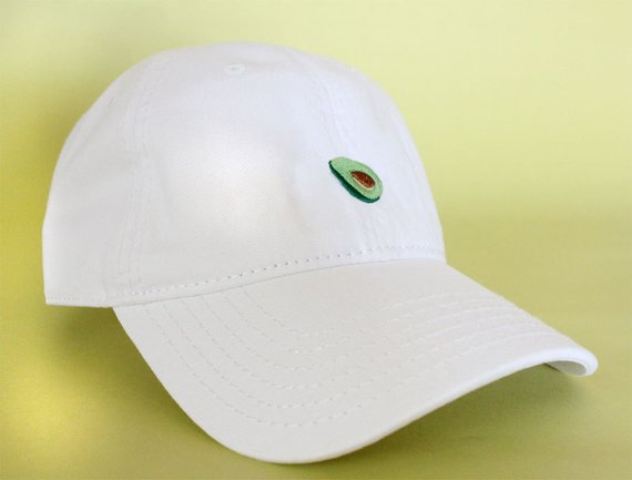 NEW Avocado Baseball Hat Dad Hat Low Profile White Pink Black Casquette  Embroidered Unisex Adjustabl Hat 9519d011ec01