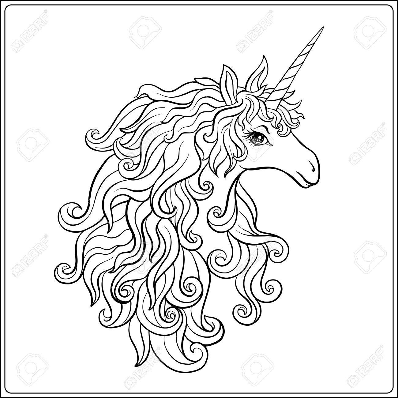 Unicorn Outline Drawing
