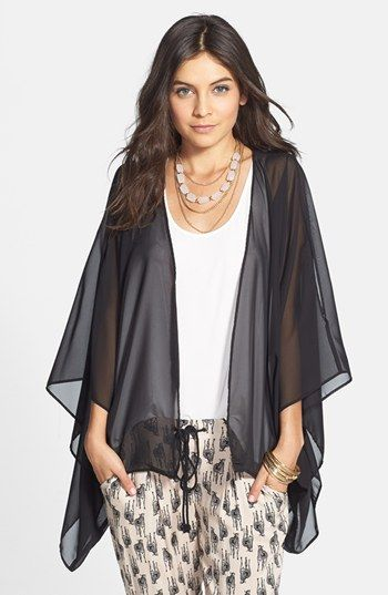 Liberty Love Sheer Chiffon Cardigan (Juniors) available at ...