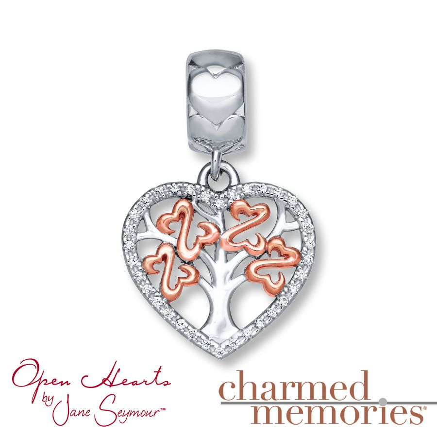 Charmed Memories Open Hearts Charm St. Silver/14K Plated ugpTr