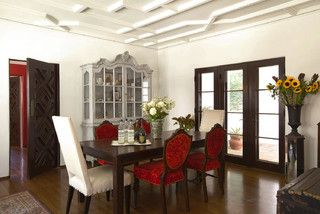 Like the gray cabinet in dining room.