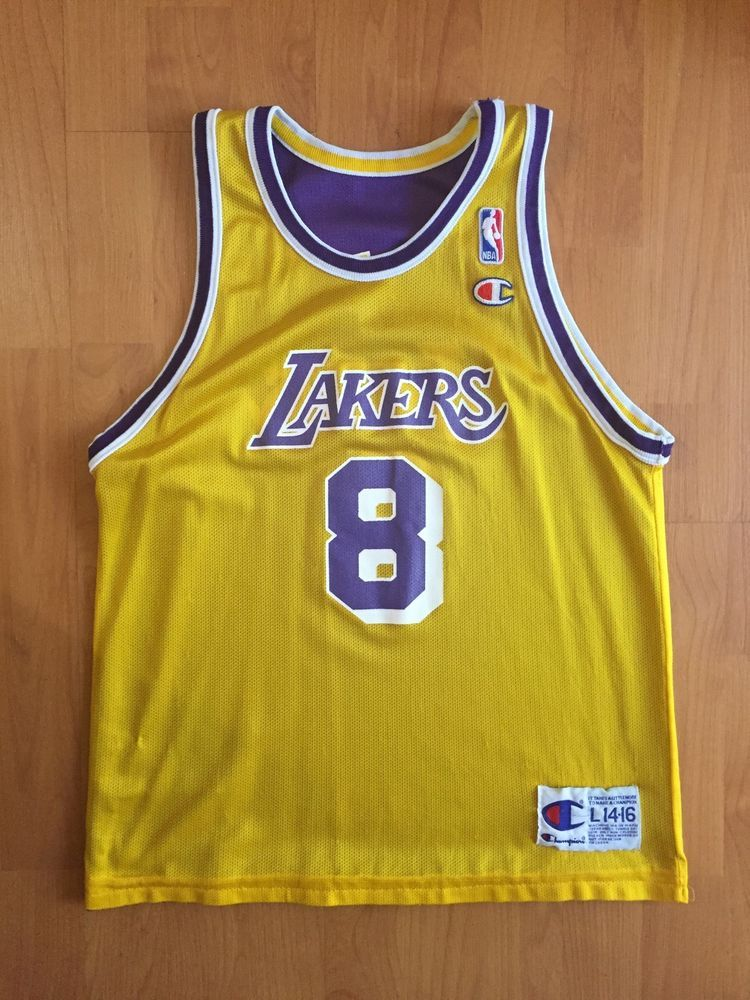 eeef932f2 Vtg Kobe Bryant 8 Champion Jersey Los Angeles Lakers Reversible Youth L 90s  from  35.0