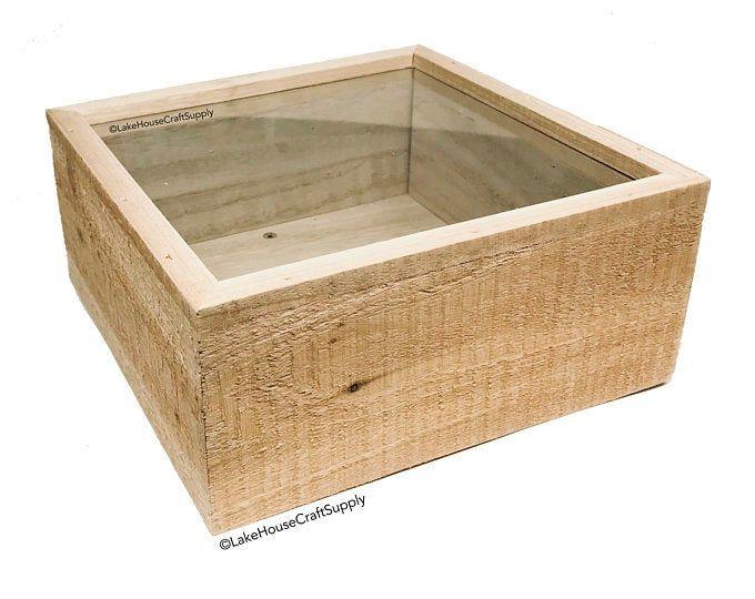 White Frame Shadow Box (Lot of 10) | Shadow box, Rustic ...