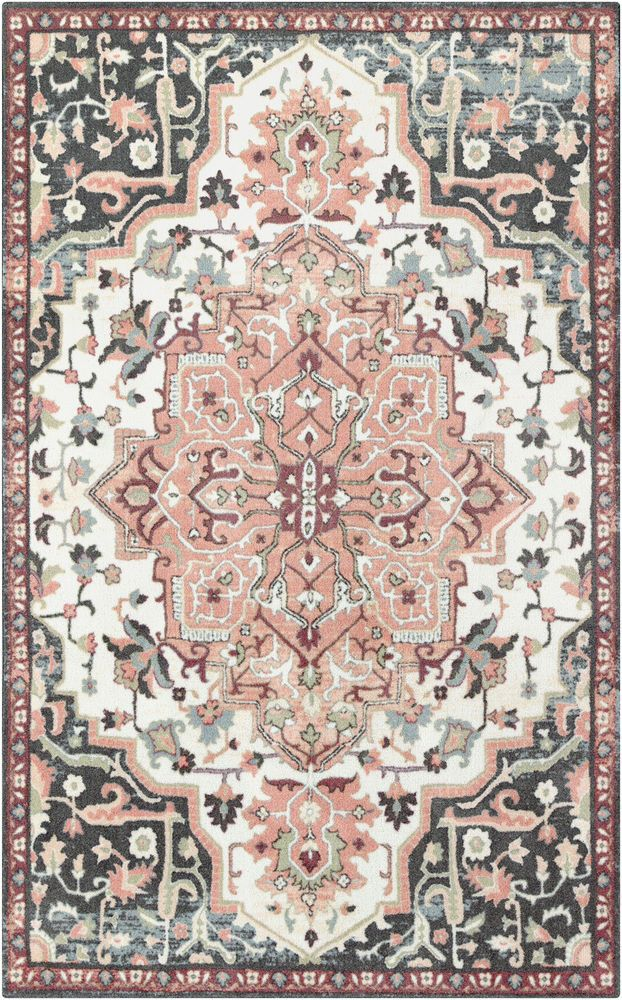 Details About Bungalow Rose Dario Peach Pink Area Rug In
