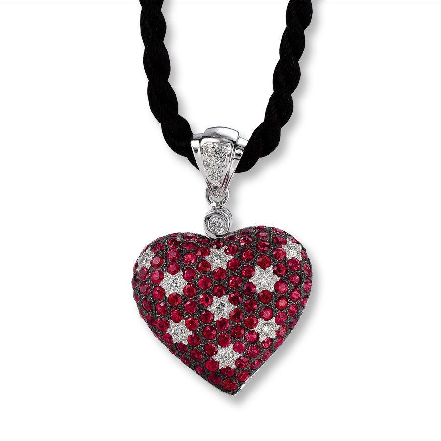Le vian ruby heart necklace bejewel me pinterest ruby heart le vian ruby heart necklace aloadofball Gallery