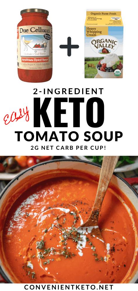Easy 2 Ingredient Creamy Keto Tomato Soup With A Kick