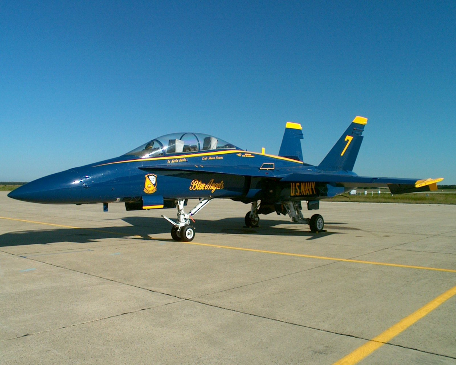 F-18 Blue Angles Number 7