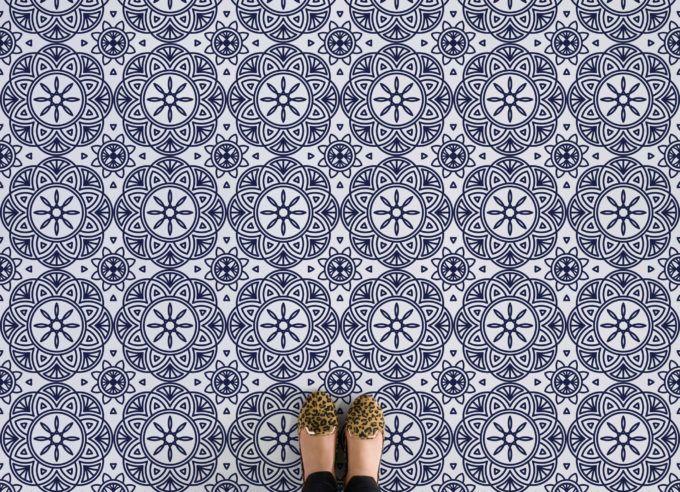 Mandala Floor patterns, Vinyl flooring, Patterned vinyl