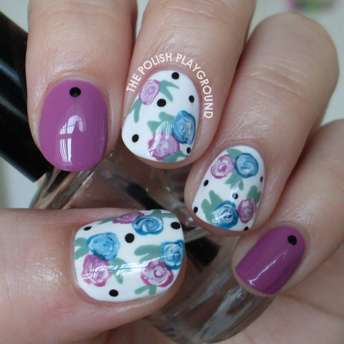Easy Floral Nails (The Polish Playground) | Playground, Nail nail ...