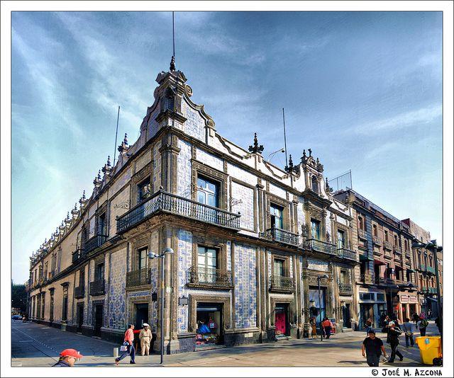 M xico df casa de los azulejos desde la calle francisco for Casa de los azulejos ciudad de mexico