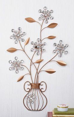 Crystal Flower Vase Wall Art Flower Vases Hanging Wall Art