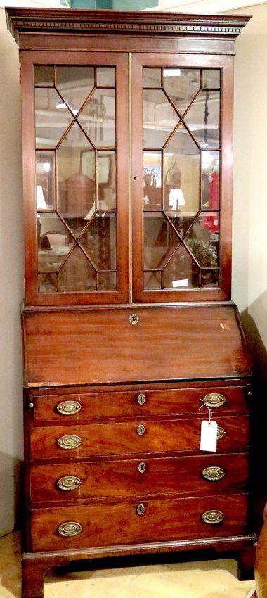 19th Century English Secretary Bookcase Country Decoratingenglish Decorenglish Stylegeorgian Furnitureantique
