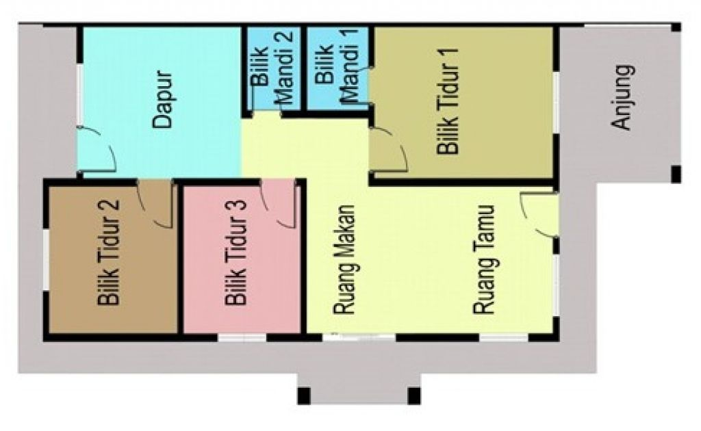 Contoh Pelan Rumah Kos Sederhana Spnb Projek Malaysia Vista Minintod Penampang Sabah