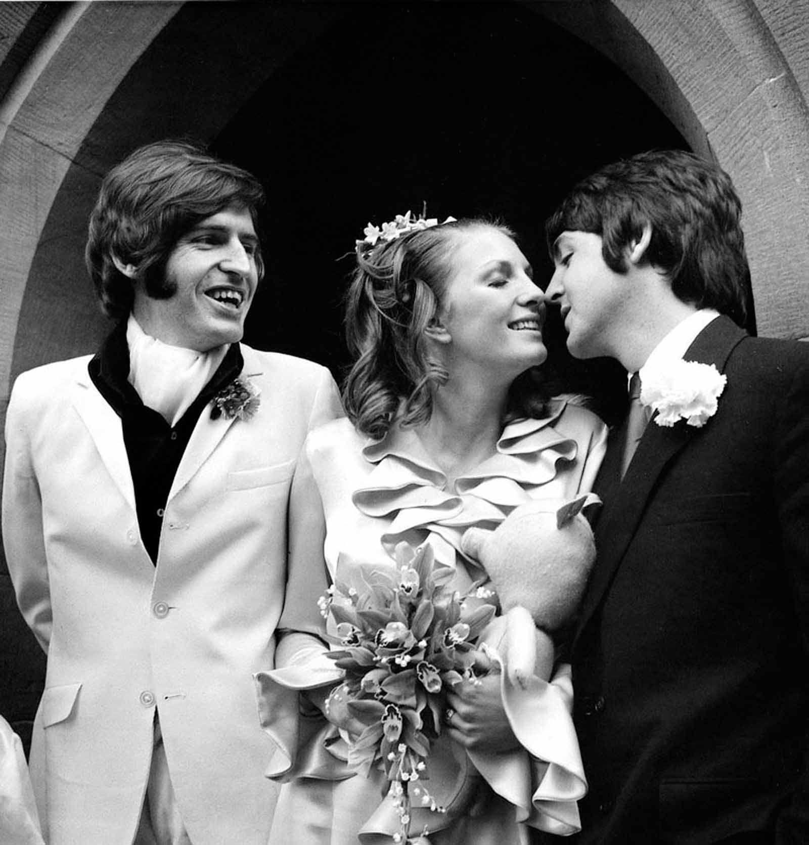 Paul Mccartney Kisses His New Sister In Law Angela Fishwick