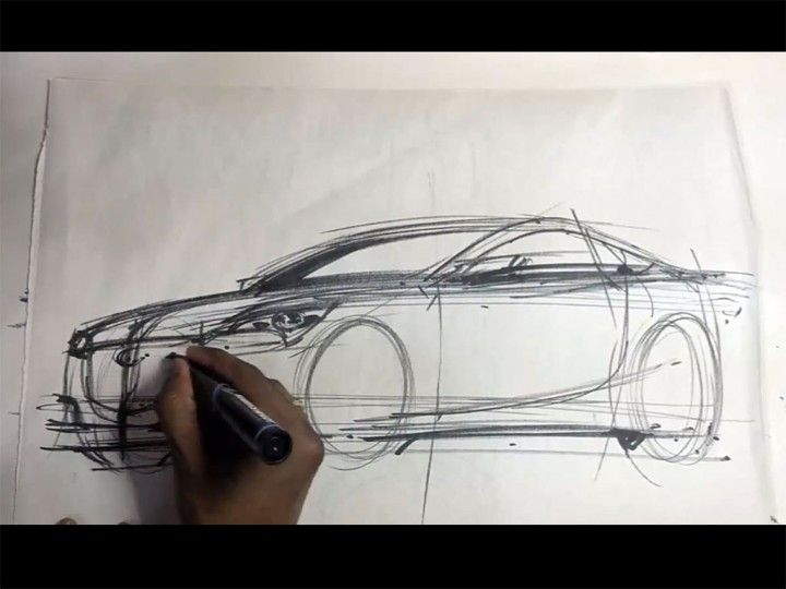 Sketching a car in front 3/4 view by Driven To Draw http://www ...