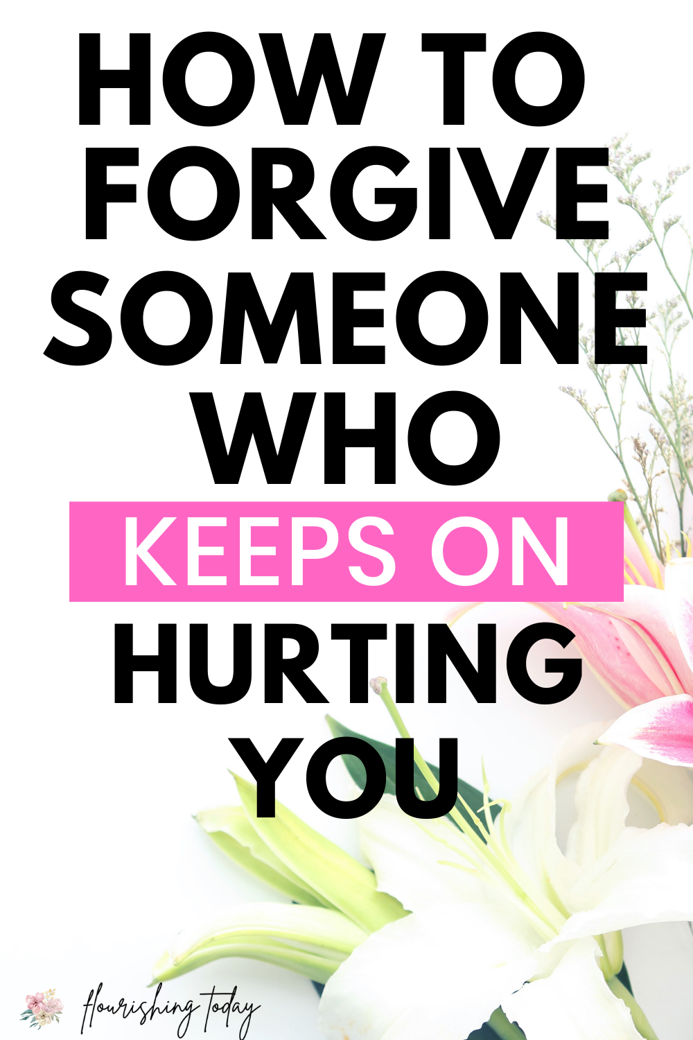 Are you having a hard time forgiving someone who has hurt you repeatedly? When it's hard to let go of relationship hurts, we can turn to the Bible for advice. Here are some biblical tips for how to forgive and move on. #relationshiptips #bible #forgiveness