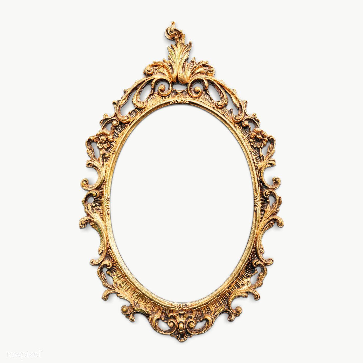 Download Premium Png Of Vintage Gold Picture Frame Mockup Transparent Png Gold Picture Frames Vintage Picture Frames Vintage Frames