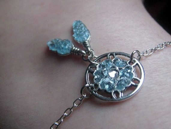 silver jewel stone turquoise product dc chip handmade catcher anklet mia dream jewelry harem turq
