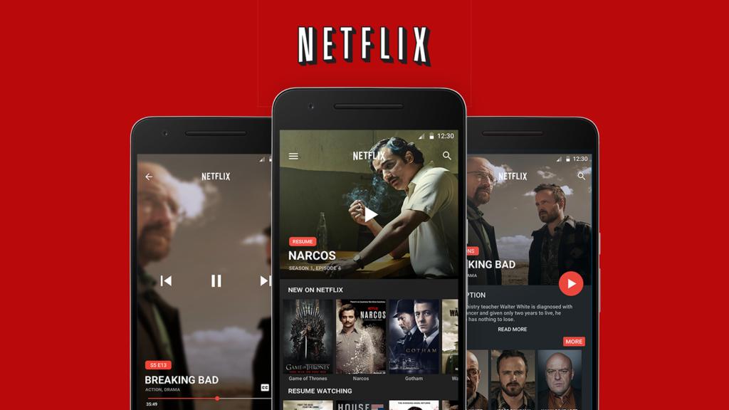 Концепт приложения Netflix под Android Android app