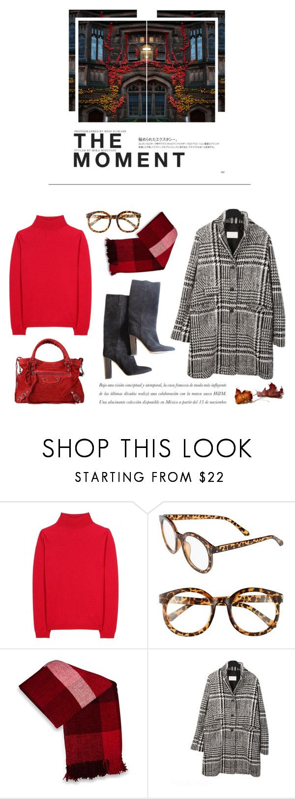 """Red leaves"" by kelly-m-o ❤ liked on Polyvore featuring Jil Sander, FE NY, Balenciaga, Jovi Home, J.Crew and Hedi Slimane"