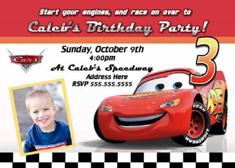 Handmade Birthday Invitation Card Car Theme