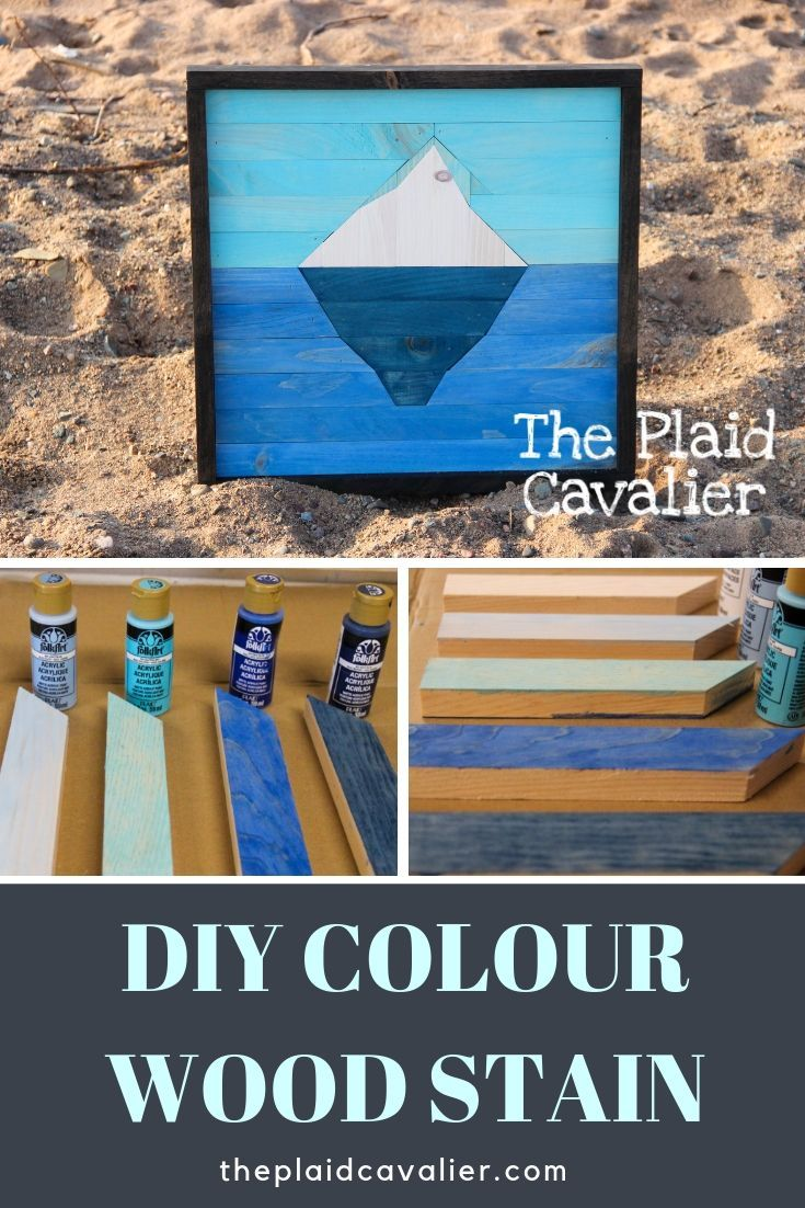 Colour wood stain diy using acrylic paint by diy wood