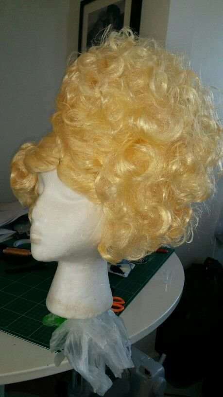 Nearly finished the fairies wig - just needs some heat, a few rhinestones and lots of glitter!!!