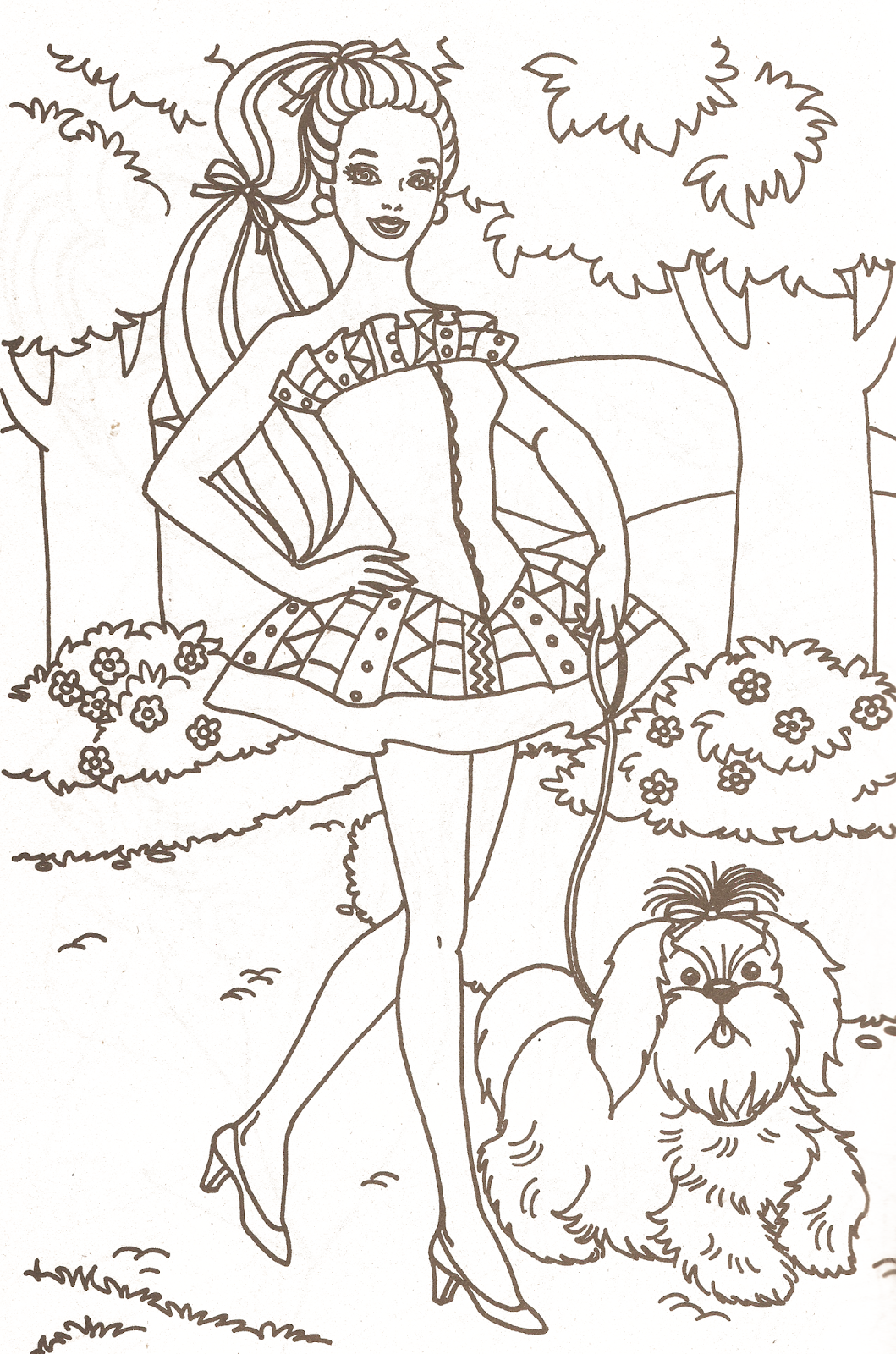 Barbie Coloring Pages Part 1 | Barbie coloring and Coloring books