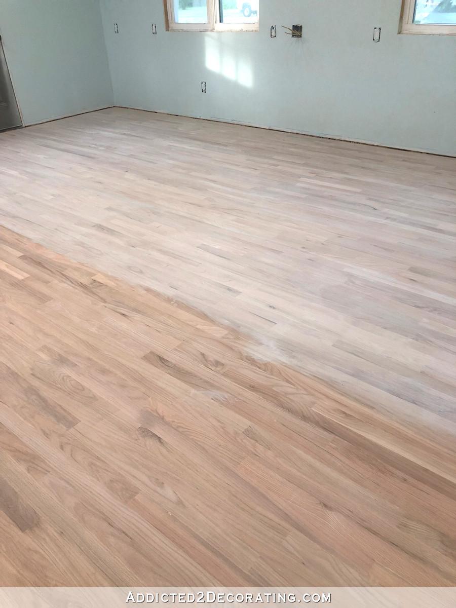Diy Whitewashed Red Oak Studio Floor Part 1 Addicted 2 Decorating In 2020 Red Oak Hardwood Red Oak Floors Flooring