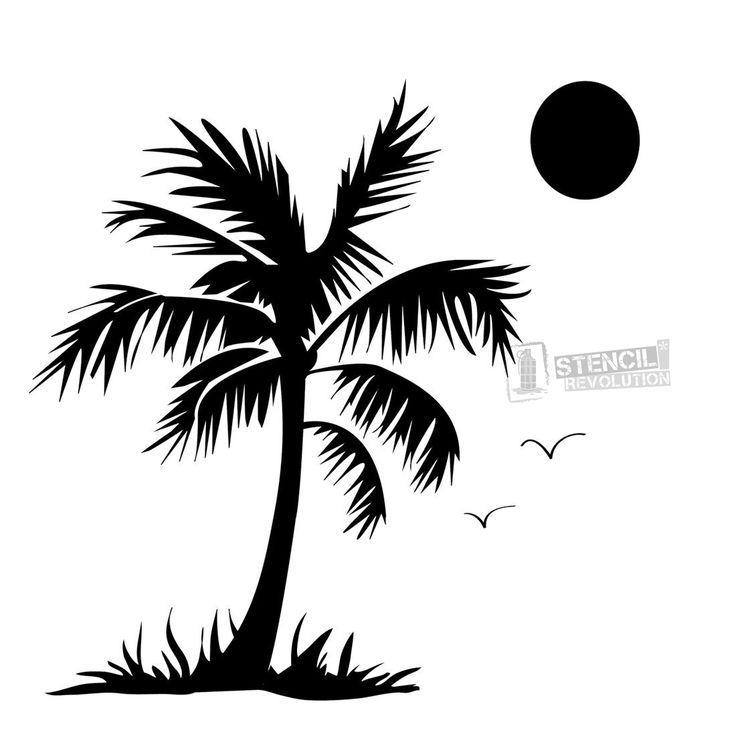 Palm Tree Stencil 12 X12 Palm Tree Silhouette Tree Stencil